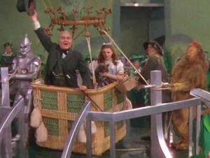 Wizard of Oz hot air balloon sendoff