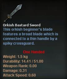Orkish Bastard Sword