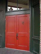 Door to Peltier House
