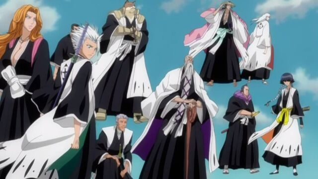 File:Soifon with the Court Guard Squads Arrive to Stop Aizen.jpg