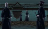 Ikkaku and Renji block Rukia and Ichigo's passage