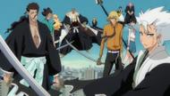 13 Court Guard Squads and Visoreds protect Ichigo