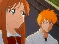 Orihime and Ichigo talk