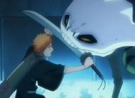 Ichigo fends of Demi-Hollow