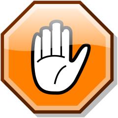 File:Stop hand nuvola orange.png