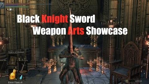 Weapon Art Showcase Black Knight Sword