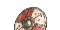 Red and White Shield