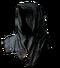 Gold-Hemmed Black Hood