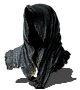 Gold-Hemmed Black Hood