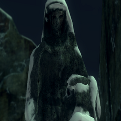 Statue, close look