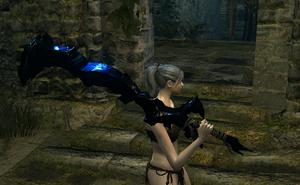 Obsidian Greatsword In game