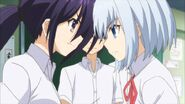 Tohka and Origami argue over Shido