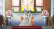 Kurumi and Shido at the altar