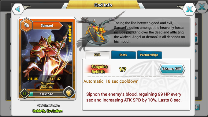 DoG Gods God Info Skill