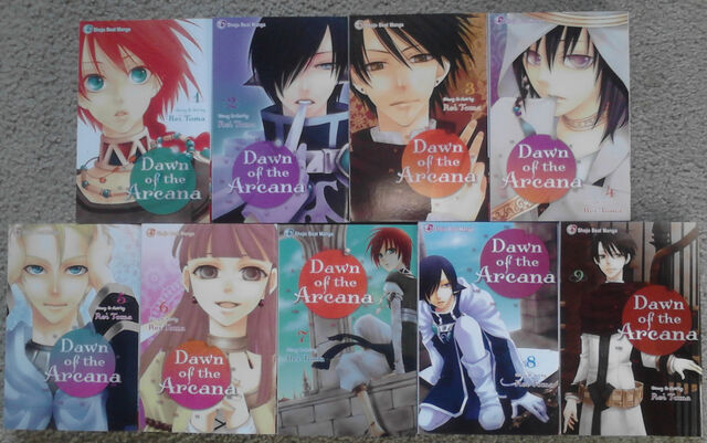 File:English vols 1-9 front covers.jpg