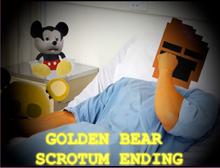 Golden bear scrotum ending