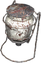 Portable gas lamp damaged