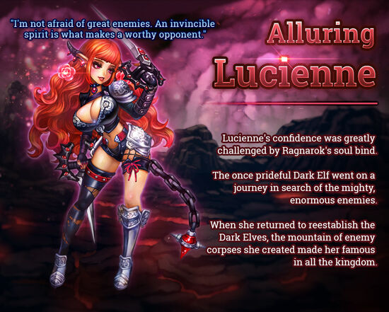 Dragon Slayer Lucienne release poster