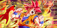 The Blow of Fate Super Saiyan God Goku