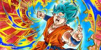 Cyan Juggernaut Super Saiyan God SS Goku