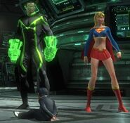 Crashing Herald and Supergirl
