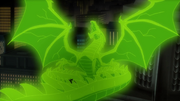 Green Lantern dragon construct
