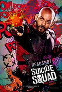 Deadshot comic character poster