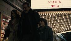 Bruce Wayne with his parents