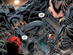 Batman attacks Firefly and company