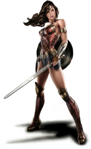 File:Wonder Woman with sword and shield concept art.png