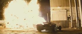 Batmobile near explosion image