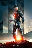Justice League - Cyborg character poster