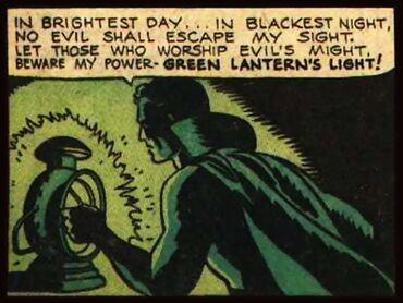 Green Lantern Alan Scott oath