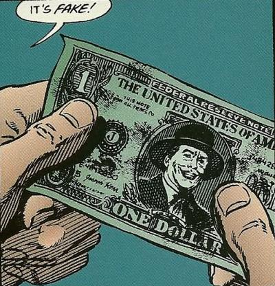 Joker fake dollar