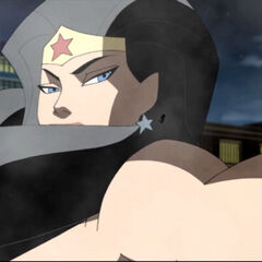 Wonder Woman tries to pull Flash back from the Speed Force.