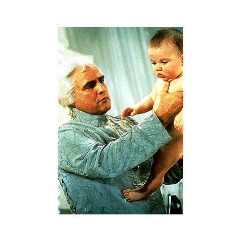 Jor-El holding his son.