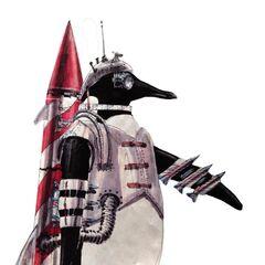 Concept art for Cobblepot's armed penguin.