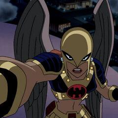 Shayera during the Thanagarian Invasion.