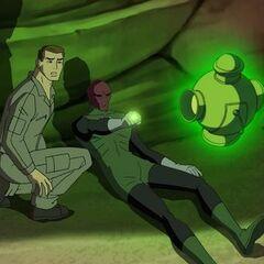 Hal Jordan and Abin Sur.