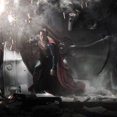 First look at Henry Cavill as Superman.