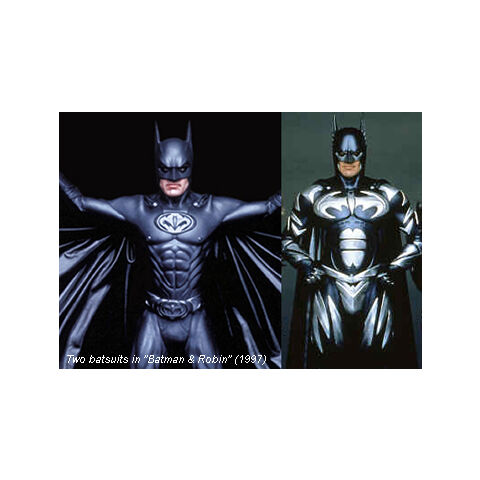 Bruce's fifth and sixth Batsuits.