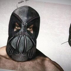 Unused concept art for Bane's mask.