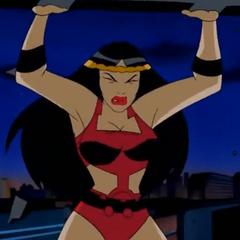 Barda using her super strength.