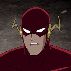 Flash during Darkseid's attack.
