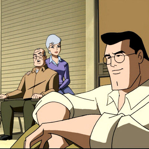 Clark talks with his parents.
