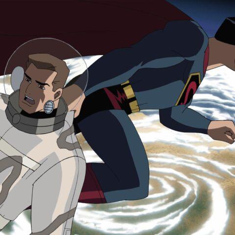 Superman saves Hal Jordan.