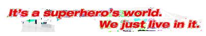 Superhero World Banner