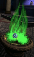 Green flame of containment