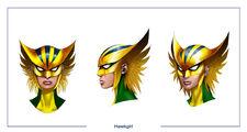 Hawkgirl head