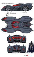 Batmobile design by chuckdee